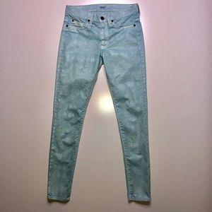 Hudson Nico Midrise Skinny Coated Jeans